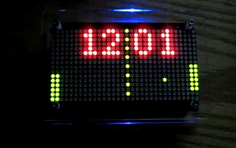 Pong LED Clock