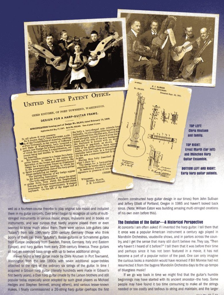 Fingerstyle Guitar Magazine - The Inevitable Harp Guitar - no.66 pg41