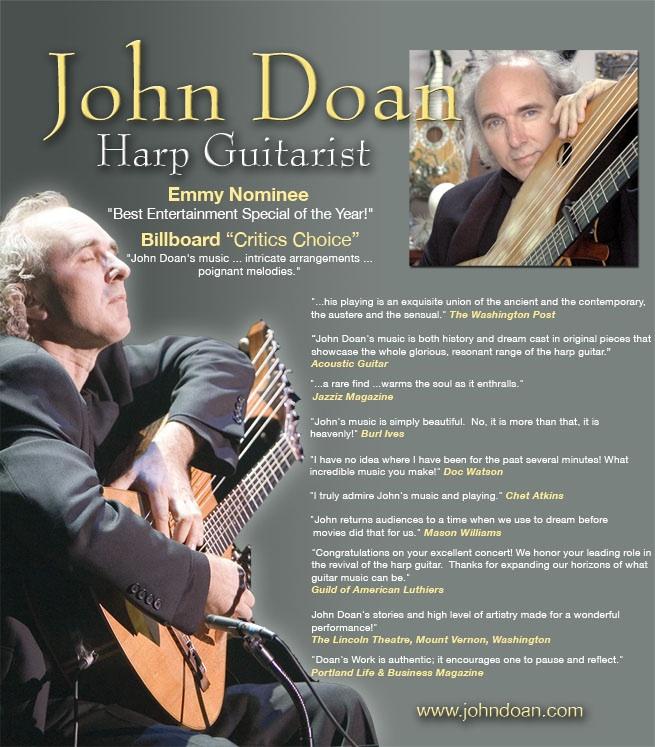 John Doan Harp Guitar Press Release Page 1