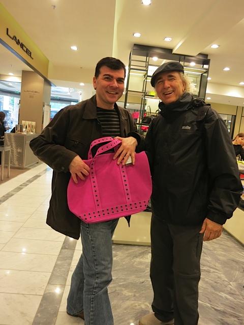 Yaouen with new purse