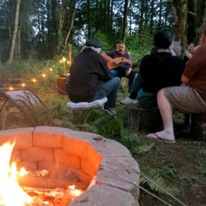 Harp Guitar Retreat 2013 Campfire14