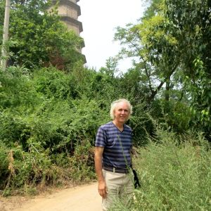 Pagoda behind John Doan
