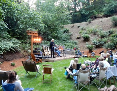 10. John Doan's Harp Guitar Retreat Concert in the Woods