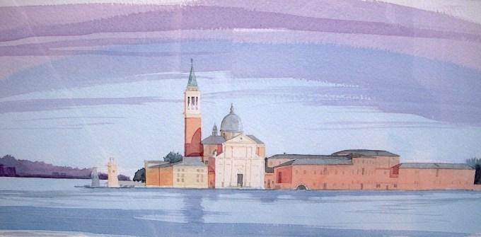 San Giorgio Maggiore, Venice, dusk (detail)