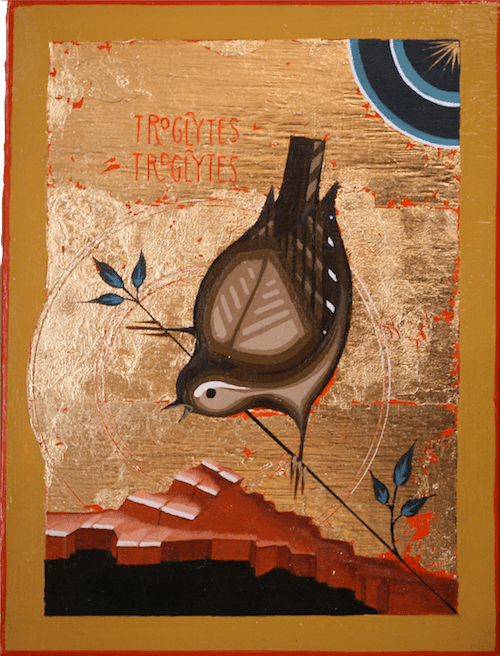 Troglodytes Troglodytes (European Wren) painting