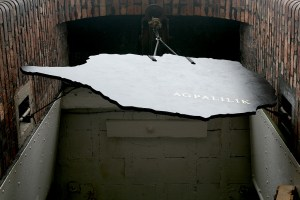 Agpalilik (2017), a sculpture in Liverpool's Baltic Triangle district for Threshold Festival 7 by artist John Elcock