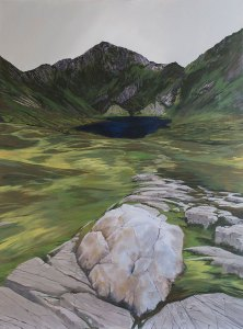 Quartz, Erratic, a painting of Cadair Idris © John Elcock