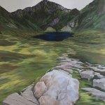 Quartz, Erratic, a painting of Cadair Idris © John Elcock