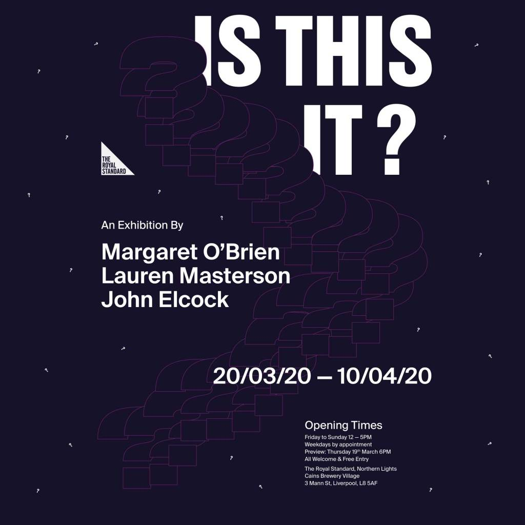 Event flyer for 'Is This It' at Royal Standard Liverpool March 2020