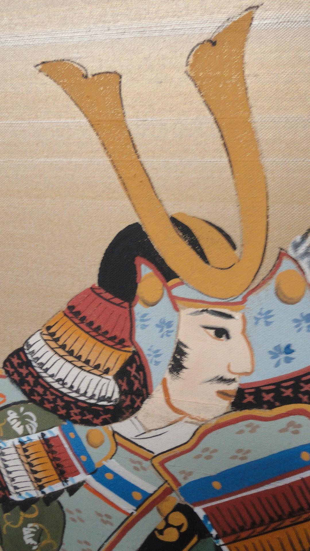Japanese Byobu Samurai Warriors