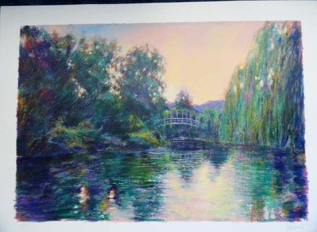 Homage to Monet by Aldo Luongo. Signed and numbered limited edition serigraph.