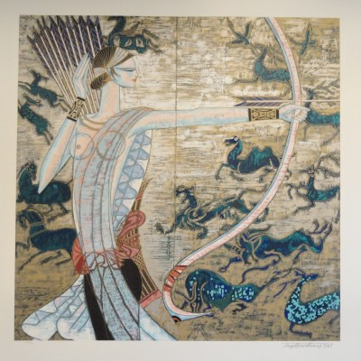 Hunting Ages by Ting Shao Kuang signed and numered limited edition serigraph