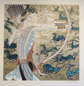 Hunting Ages by Ting Shao Kuang signed and numbered limited edition serigraph