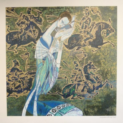 Messenger by Ting Shao Kuang signed and numered limited edition serigraph
