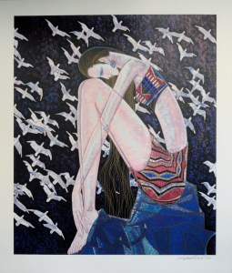 Echoes, by Ting Shao Kuang signed and numbered limited edition serigraph