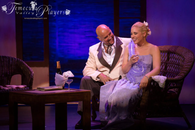 John George Campbell and Heather Anne in South Pacific, as Emile DeBecque and Nellie Forbush, in the final scene of the first act.