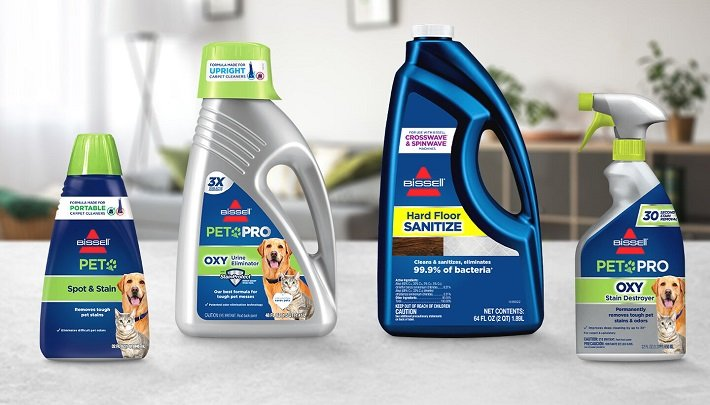 laundry detergent in a carpet cleaner