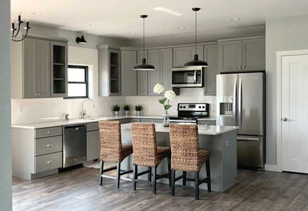 Shell Grey color kitchen