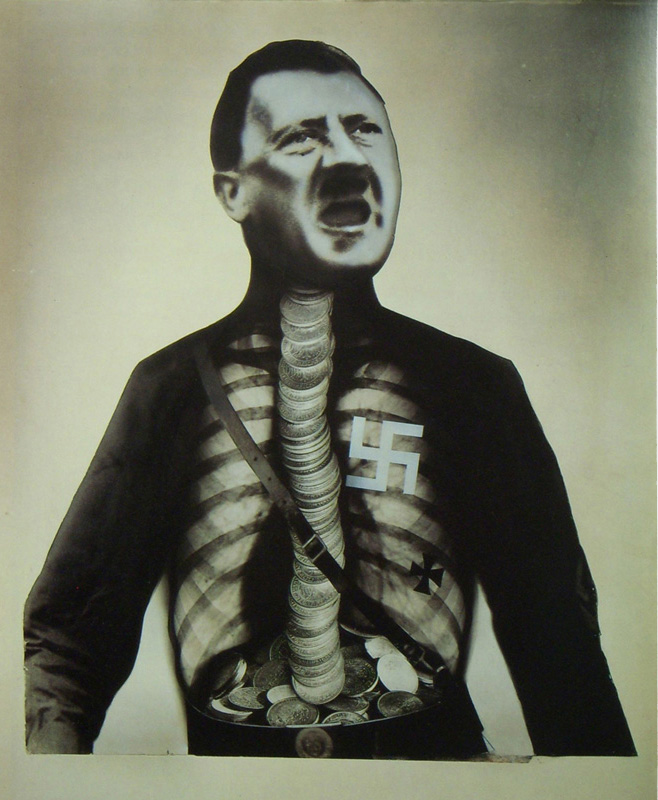 Adolf Hitler The Superman john heartfield political collage
