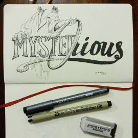 """Running behind on inktober now. We'll see if I can catch back up. Inktober day 15 """"Mysterious"""""""