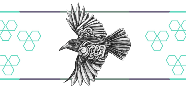 crow tattoo graphic