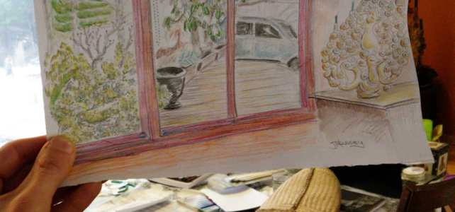 Another living room sketch at Oma and Opa's