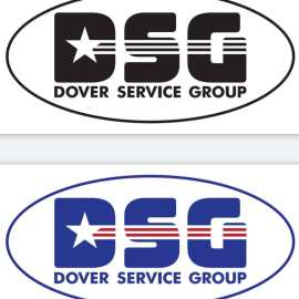 Simple stars and bars themed logo