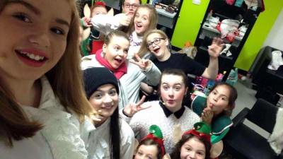 Backstage at Elf!