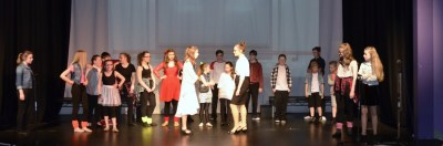 Ms Bell, Miss Sherman and cast