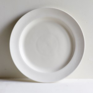 Classical Porcelain Large Dinner Plate Unglazed Border