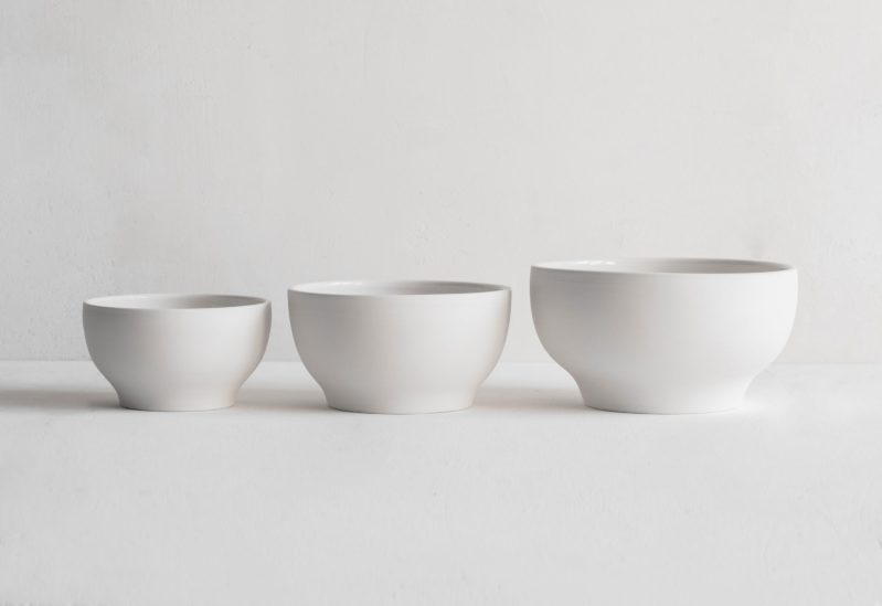 Simple Bowls in three sizes, exterior unglazed