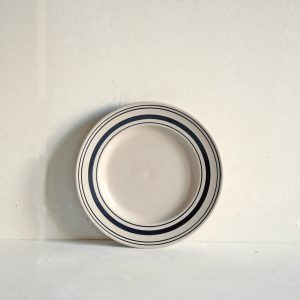 Black Linen Stripe Side Plate