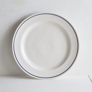 Large Dinner Plate 30cm with Cobalt Blue Line