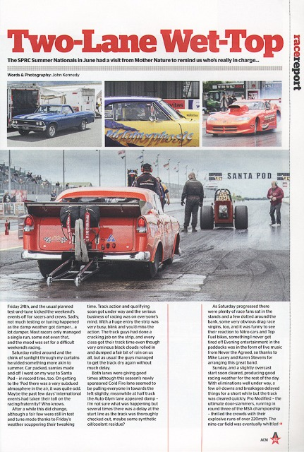 American Car Magazine - Cover Spetember 2016 - Editorial piece - SPRC Summer Nationals page 1