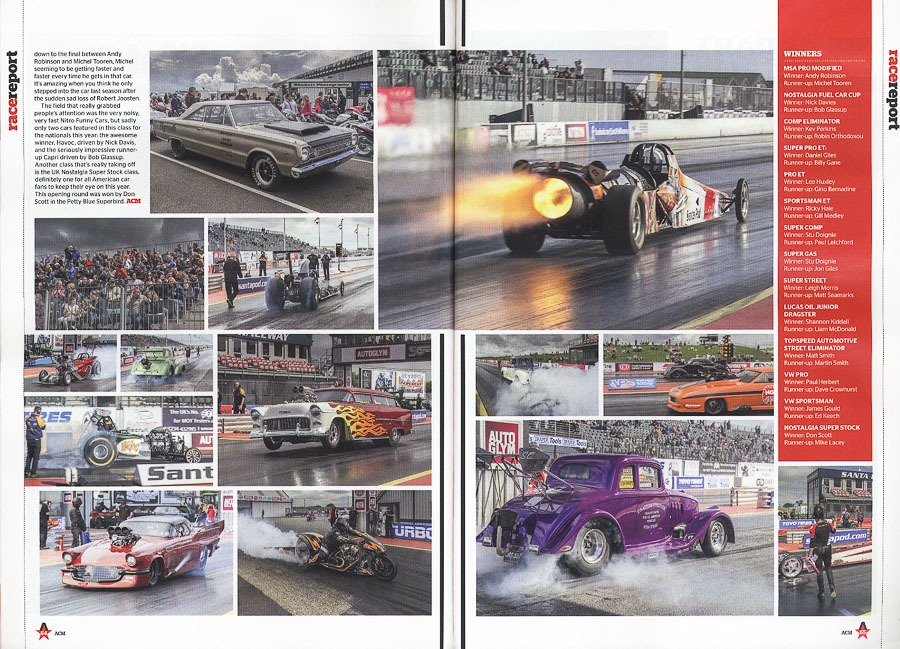 American Car Magazine - Cover Spetember 2016 - Editorial piece - SPRC Summer Nationals - spread pages 2 and 3