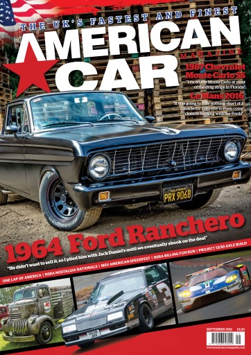 American Car Magazine - Cover Spetember 2016 - Editorial pieces 44th NSRA Fun Run and SPRC Summer Nationals