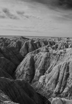 badlands canyon view
