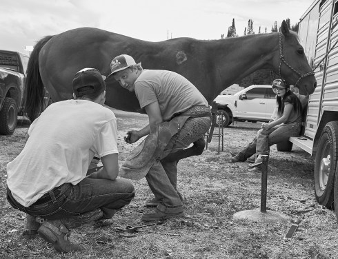 farrier at rodeo
