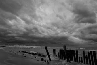 lake michigan pilings in weather no 3