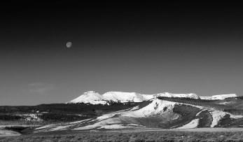 spring moon at flattops