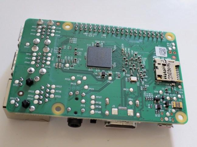 Base view of Raspberry Pi 2
