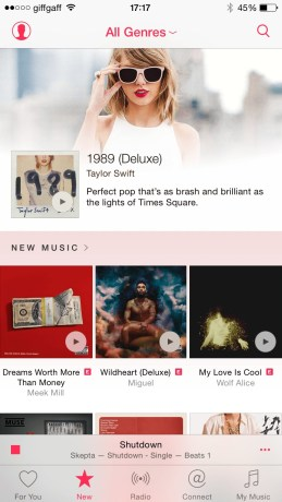Apple Music home screen