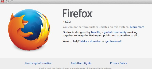 Can't update Firefox on OSX 10.7 Mountain Lion - Mozilla ends Firefox support