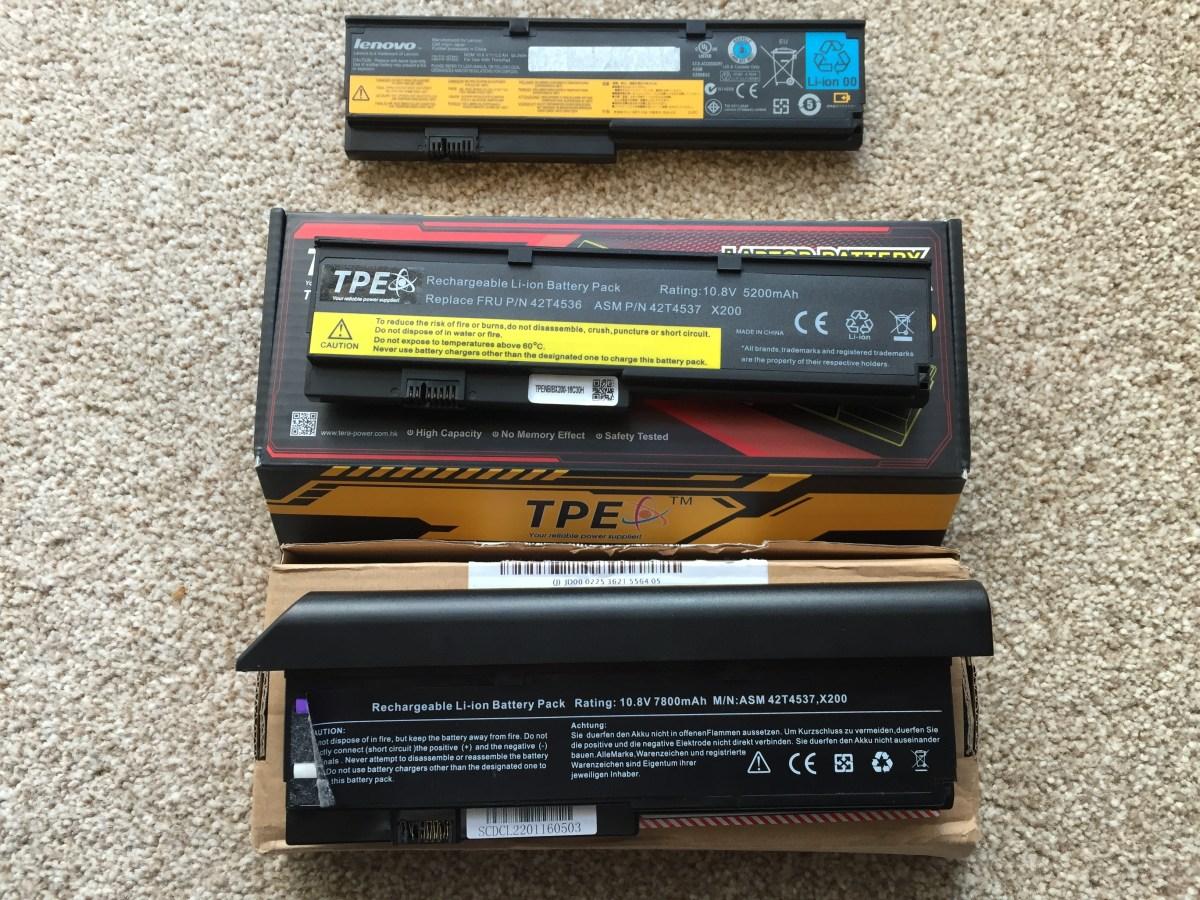 Lenovo Thinkpad X200 laptop battery woes