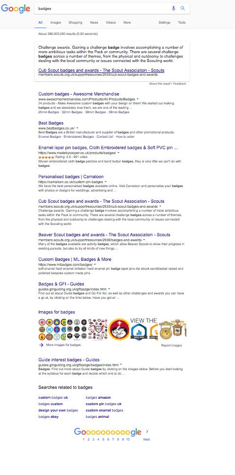 Google with adblock