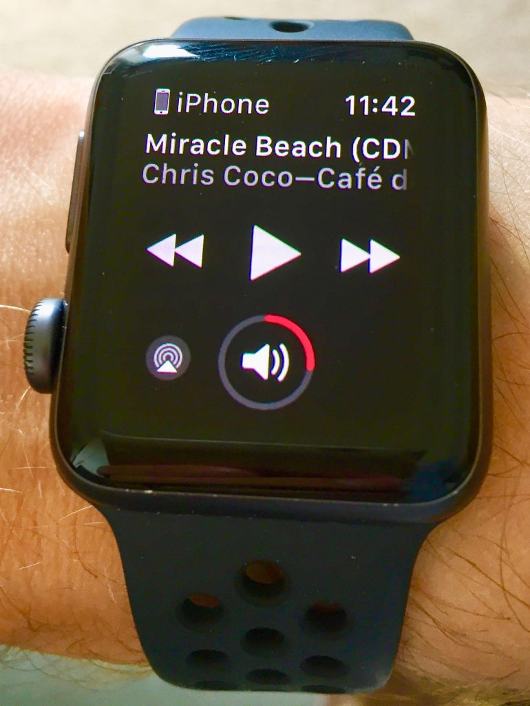 Sonos controls on my Series 3 apple watch