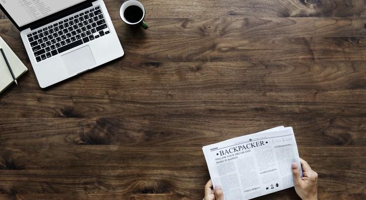 Put the laptop away & read a newspaper