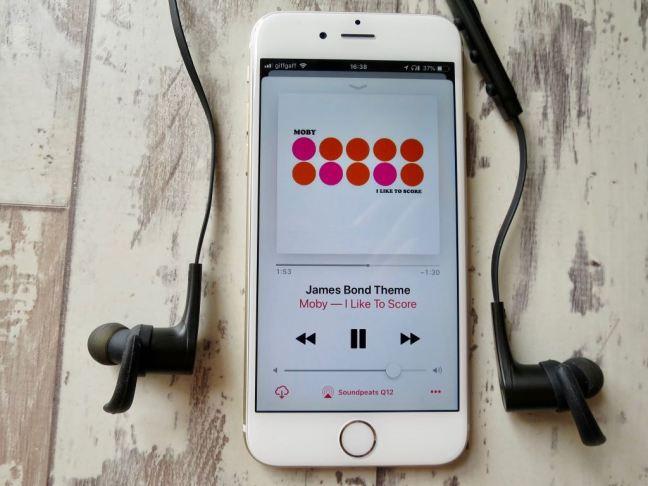 Soundpeats Q12 Headphones and Apple Music