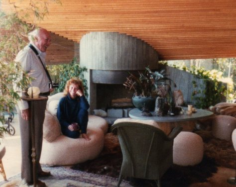 John Lautner in Segel residence; Photo by Carla Larissa Fallberg