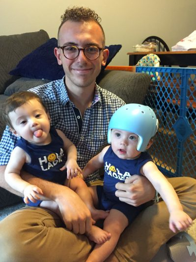 Hanging out with my nephews, Mateo & Lincoln